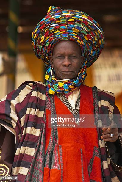 A courtier poses for a portrait at the Argungu Fishing Festival on March 18 2004 in Argungu Nigeria The Argungu Fishing Festival was first held in...