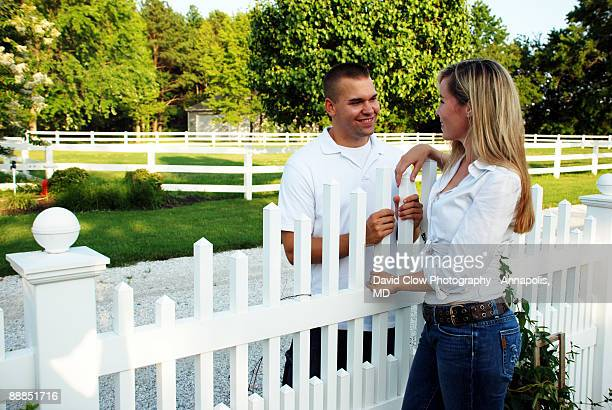 Courting at the fence.