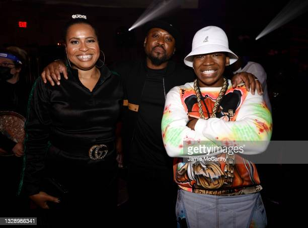 Courtney A. Kemp, Omar Epps and Mekai Curtis attend 'Power Book III: Raising Kanan' global premiere event and screening at Hammerstein Ballroom on...