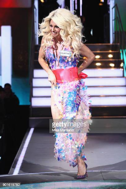 Courtney Act attends the Celebrity Big Brother male contestants launch night at Elstree Studios on January 5 2018 in Borehamwood England