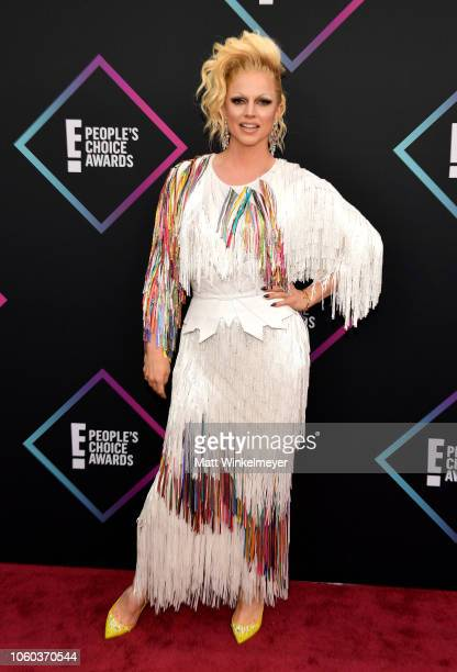 Courtney Act attends the People's Choice Awards 2018 at Barker Hangar on November 11 2018 in Santa Monica California