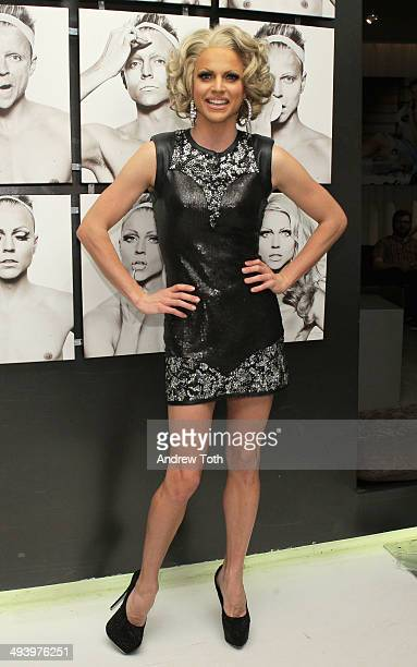 Courtney Act attends the private viewing and launch party for Why Drag at the Out Hotel on May 26 2014 in New York City