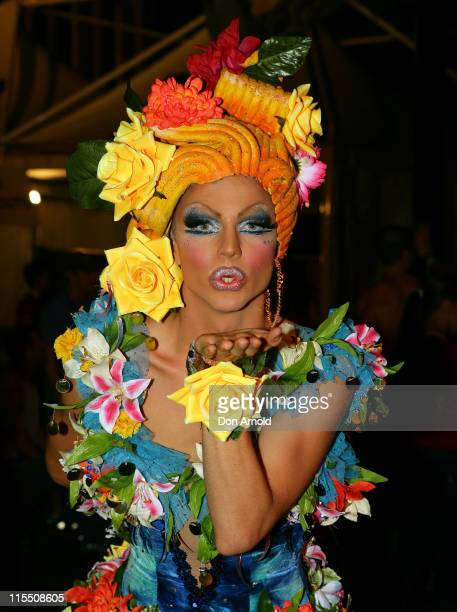 Courtney Act during Sydney Gay and Lesbian Mardi Gras Party March 3 2007 at Fox Studios in Sydney Australia
