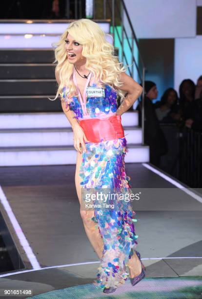 Courtney Act enters the Celebrity Big Brother house at Elstree Studios on January 5 2018 in Borehamwood England