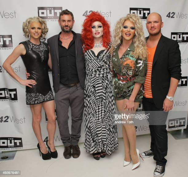 Courtney Act Magnus Hastings Maddelynn Hatter Willam Belli and Kenneth Sullivan attend the private viewing and launch party for Why Drag at the Out...