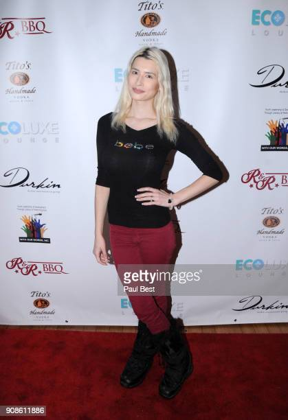 Courtney Anne Mitchell attends the EcoLuxe Lounge Park City on January 21 2018 in Park City Utah