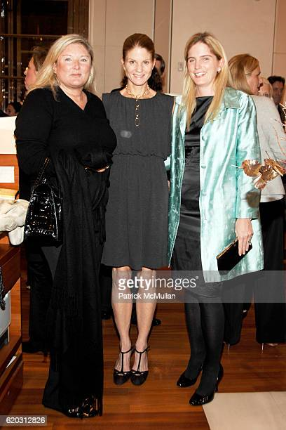 Courtney Arnot Mary Darling and Leslie Heaney attend BVLGARI and The Society of Memorial SloanKettering Cancer Center Cocktail Event at Bvlgari on...