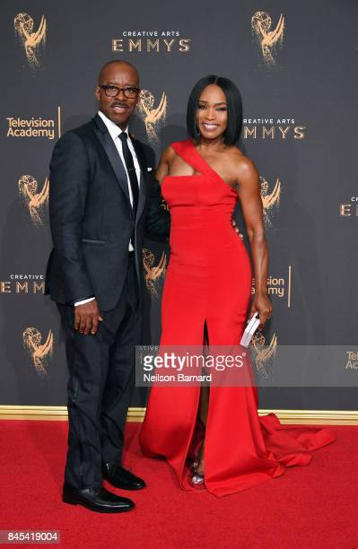 Courtney B Vance and Angela Bassett attend day 2 of the 2017 Creative Arts Emmy Awards on September 10 2017 in Los Angeles California
