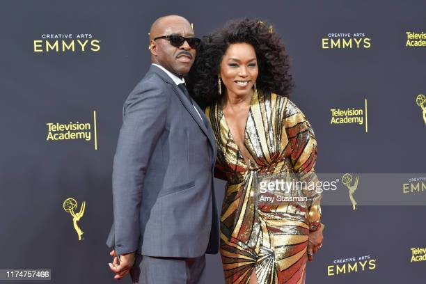 Courtney B. Vance and Angela Bassett attend the 2019 Creative Arts Emmy Awards on September 14, 2019 in Los Angeles, California.