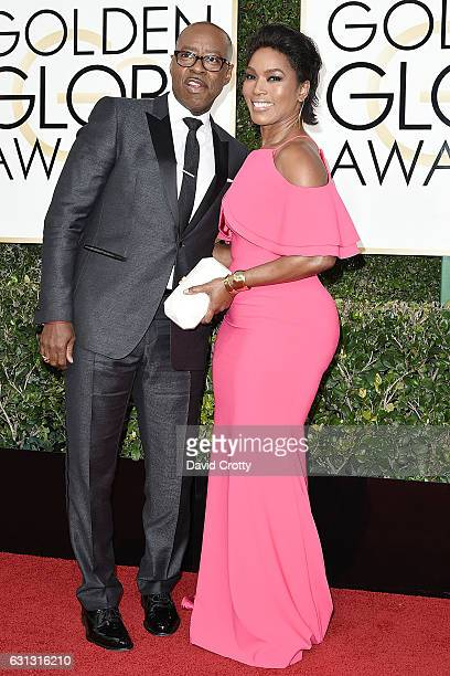 Courtney B Vance and Angela Bassett attend the 74th Annual Golden Globe Awards Arrivals at The Beverly Hilton Hotel on January 8 2017 in Beverly...