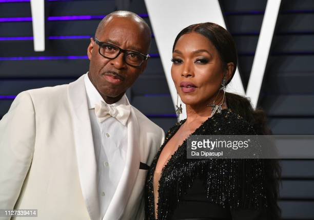 Courtney B Vance and Angela Bassett attends the 2019 Vanity Fair Oscar Party hosted by Radhika Jones at Wallis Annenberg Center for the Performing...
