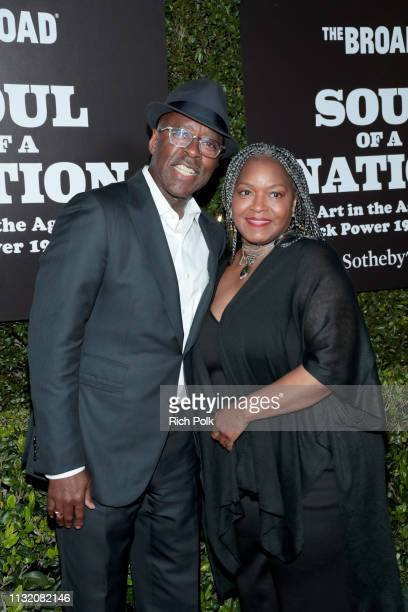 Courtney B Vance and D'nette Bassett attend The Broad Museum celebration for the opening of Soul Of A Nation Art in the Age of Black Power 19631983...