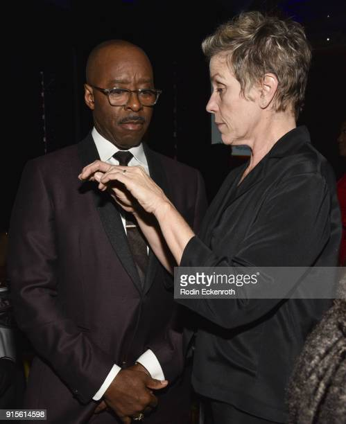 Courtney B Vance and Frances McDormand at the 9th Annual AAFCA Awards at Taglyan Complex on February 7 2018 in Los Angeles California