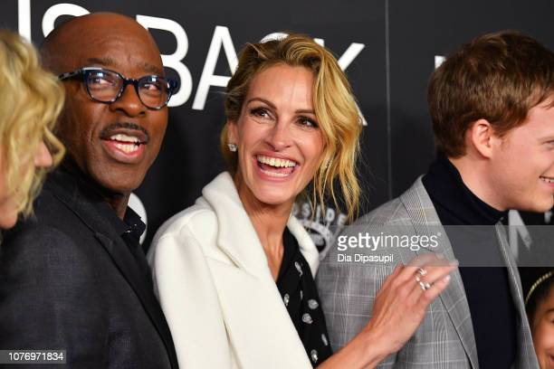 Courtney B Vance and Julia Roberts attend the 'Ben is Back' New York premiere at AMC Loews Lincoln Square on December 03 2018 in New York City