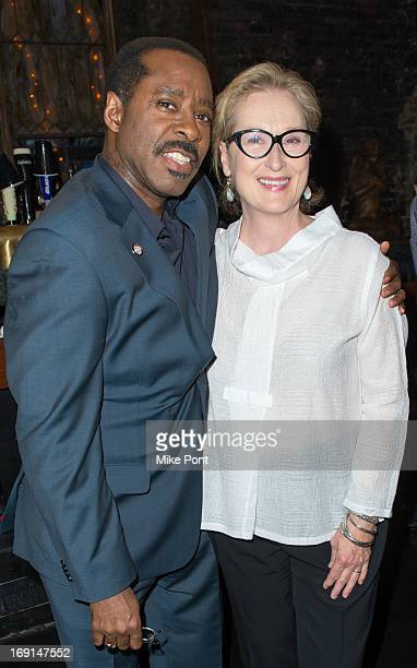 Courtney B. Vance and Meryl Streep attend the 2013 Obie Awards at Webster Hall on May 20, 2013 in New York City.