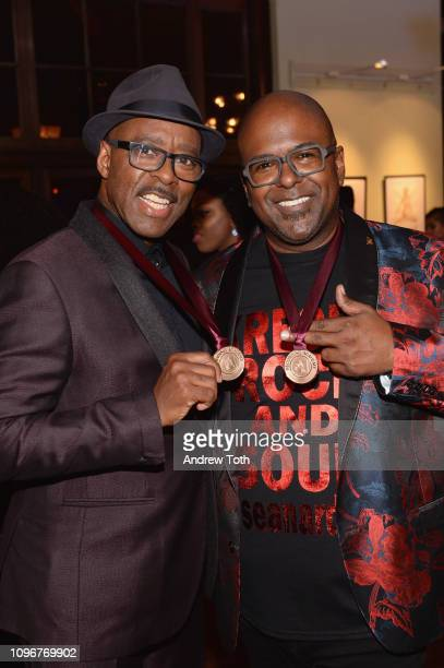 Courtney B Vance and Sean Ardoin attend the 61st Annual GRAMMY Awards Nominee Reception at Ebell of Los Angeles on February 9 2019 in Los Angeles...