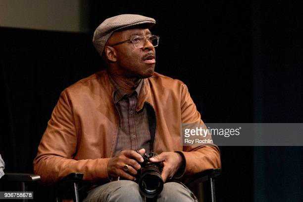 Courtney B Vance discusses 'Isle Of Dogs' during the New York Screening QA at The Film Society of Lincoln Center Walter Reade Theatre on March 22...