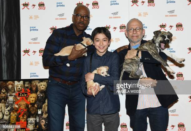 Courtney B Vance Koyu Rankin and Bob Balaban attend the paw prints special screening of 'Isle of Dogs' at IFC CENTER on March 21 2018 in New York /...