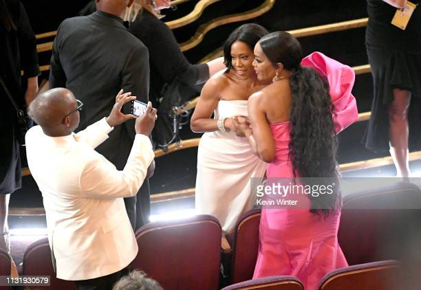 Courtney B Vance Regina King and Angela Bassett attend the 91st Annual Academy Awards at Dolby Theatre on February 24 2019 in Hollywood California