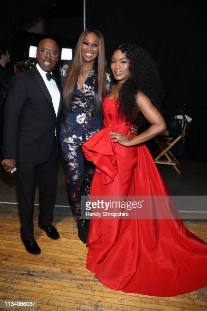 Courtney B Vance Yolanda Adams and Angela Bassett attend AllStar Lineup Pays Tribute At 'Aretha A GRAMMYCelebration For The Queen Of Soul at The...