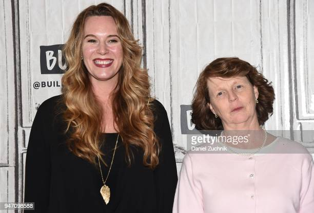 Courtney Balaker and Susette Kelo attend the Build Series to discuss the film 'Little Pink House' at Build Studio on April 16 2018 in New York City