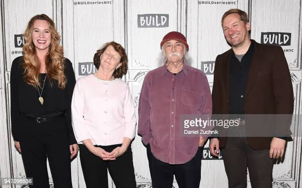 Courtney Balaker Susette Kelo David Crosby and Ted Balaker attend the Build Series to discuss the film 'Little Pink House' at Build Studio on April...