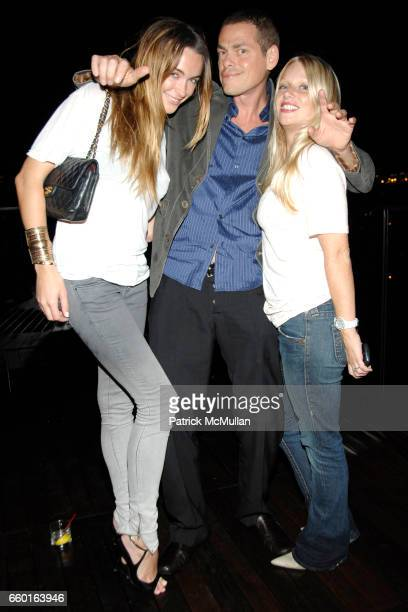 Courtney Bingham Vince Offer and Kelly Brady attend Scott Lipps President of One Management's Birthday at Cooper Square Hotel on July 29 2009 in New...