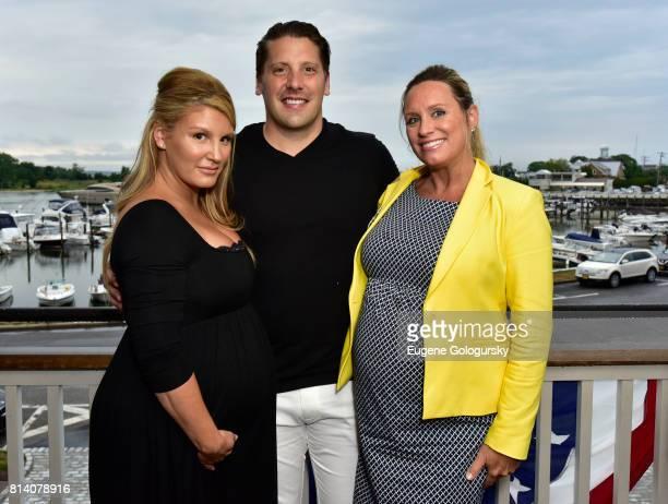 Courtney Breitenbach Matthew Breitenbach and Amy Kaufman attend the Hamptons Magazine Celebration with Cover Star Karolina Kurkova on July 13 2017 in...