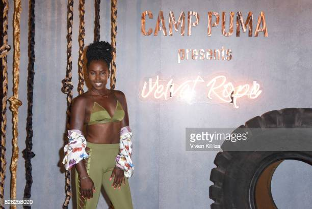 Courtney Bright attends PUMA Hosts CAMP PUMA To Launch Their Newest Women's Collection Velvet Rope at Goya Studios on August 3 2017 in Los Angeles...