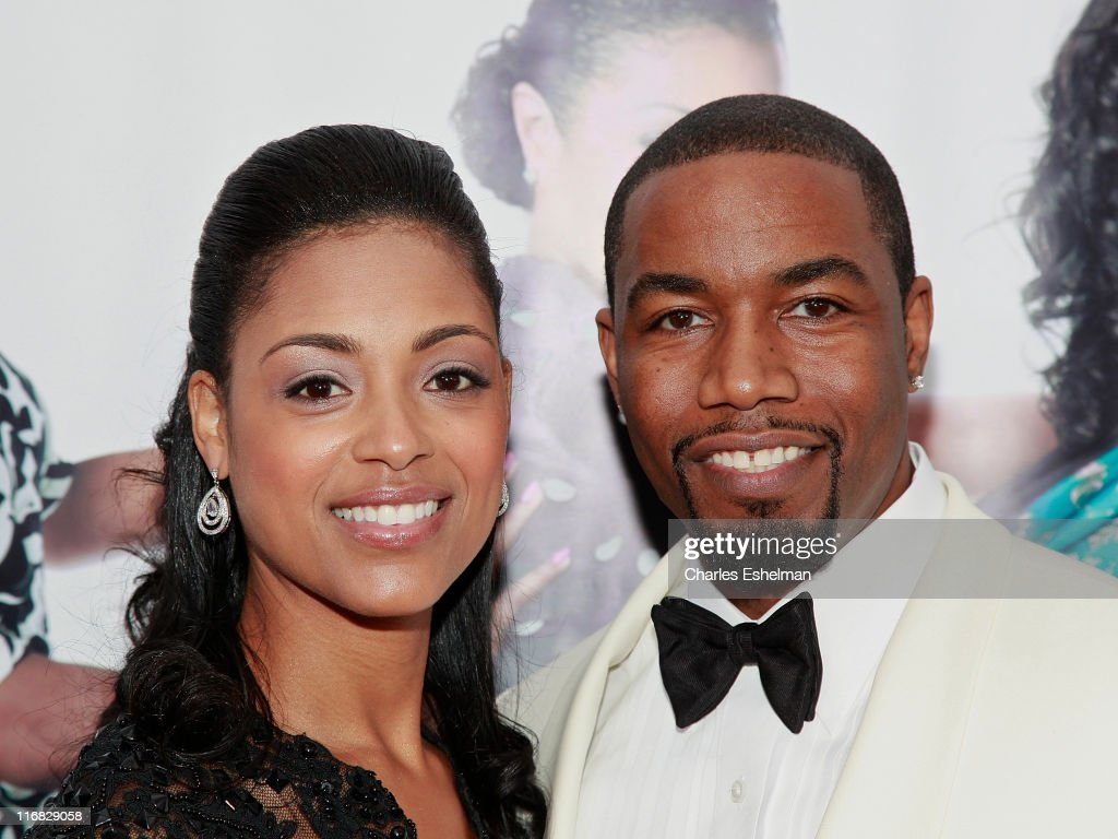 Courtney Chatman and actor Michael Jai attend the special screening of 'Why Did I Get Married Too?' at the School of Visual Arts Theater on March 22, 2010 in New York City.