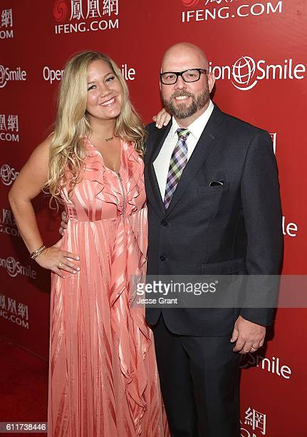 Courtney Coleman and David Coleman attend Operation Smile's Annual Smile Gala at the Beverly Wilshire Four Seasons Hotel on September 30 2016 in...