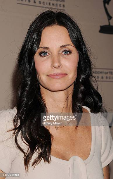 Courtney Cox arrives at the Academy of Television Arts Sciences Presents An Evening With Cougar Town which took place at Leonard H Goldenson Theatre...
