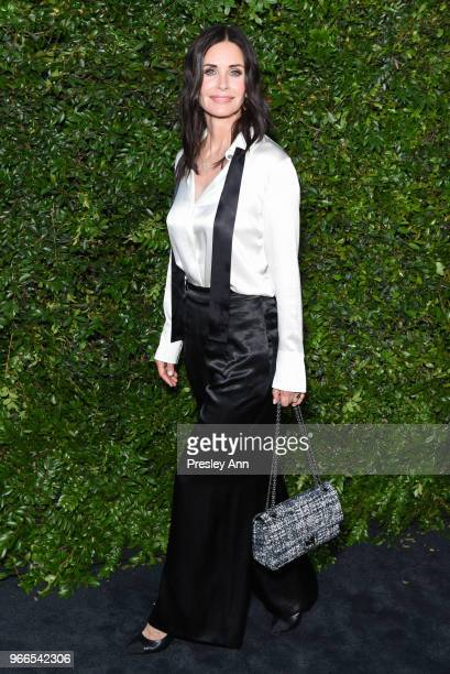 Courtney Cox attends CHANEL Dinner Celebrating Our Majestic Oceans, A Benefit For NRDC on June 2, 2018 in Malibu, California.