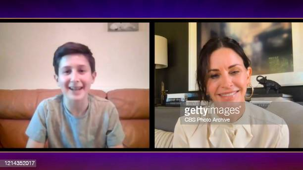 Courtney Cox surprises Friends fan Naftali Arden on THE LATE LATE SHOW WITH JAMES CORDEN scheduled to air Monday May 18 2020 on the CBS Television...