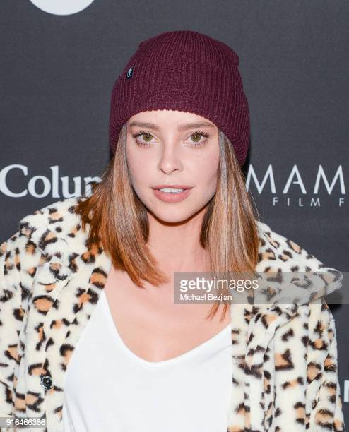 Courtney Davies arrives at Unsolved The Murders Of Tupac and The Notorious BIG at Inaugural Mammoth Film Festival Day 2 on February 9 2018 in Mammoth...