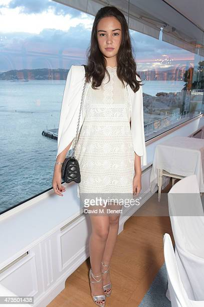 Courtney Eaton attends as Charles Finch hosts his annual Filmmakers Dinner and photographic exhibition in celebration of 'The Art Of Behind The...