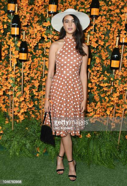 Courtney Eaton attends the 9th Annual Veuve Clicquot Polo Classic Los Angeles at Will Rogers State Historic Park on October 6 2018 in Pacific...
