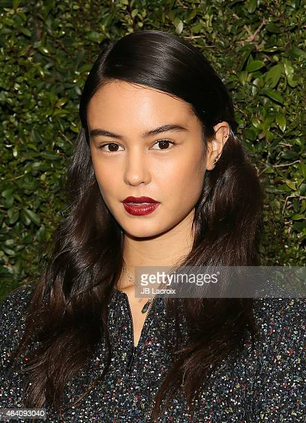 Courtney Eaton attends the Chanel And Charles Finch PreOscar Dinner at Madeo Restaurant on February 21 2015 in West Hollywood California