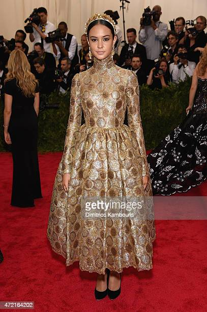 Courtney Eaton attends the 'China Through The Looking Glass' Costume Institute Benefit Gala at the Metropolitan Museum of Art on May 4 2015 in New...