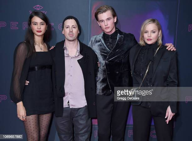 "Courtney Eaton, Eddie Alcazar, Garrett Wareing, and Abbie Cornish arrive at the Screening Of ""Perfect"" at The WGA Theater on December 7, 2018 in..."