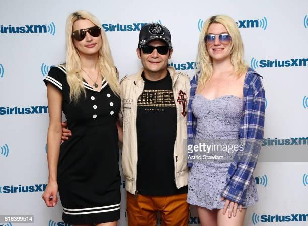 Courtney Feldman actor/musician Corey Feldman and Jackie von Rueden visit the SiriusXM Studios on July 17 2017 in New York City