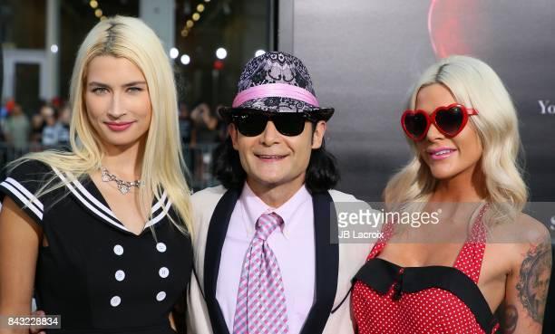 Courtney Feldman actor/musician Corey Feldman and Jackie von Rueden attend the premiere of Warner Bros Pictures and New Line Cinema's 'It' on...