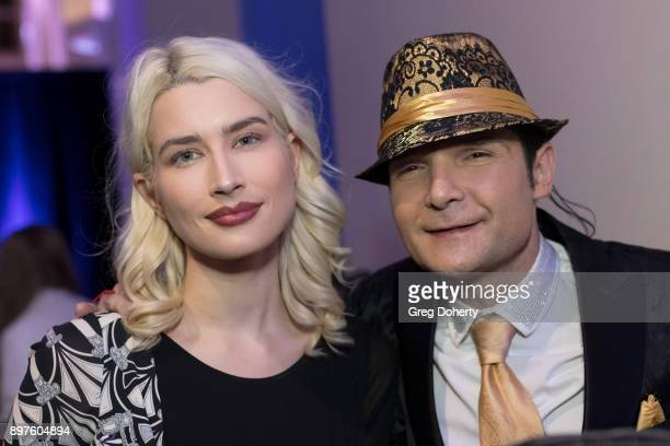 Courtney Feldman and Cory Feldman attend the Rio Vista Universal's Valkyrie Awards and Holiday Party on December 16 2017 in Los Angeles California