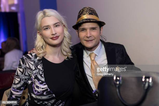 Courtney Feldman and Cory Feldman attend the Rio Vista Universal's Valkyrie Awards and Holiday Party on December 16, 2017 in Los Angeles, California.