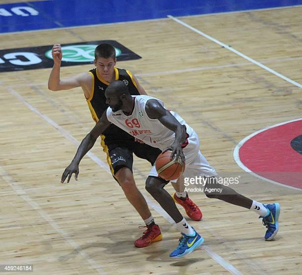 Courtney Fells of Usak Sportif in action during FIBA EuroChallenge Group H basketball match between Usak Sportif and BC Siauliai in Usak, Turkey on...