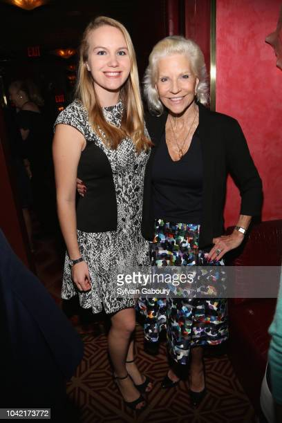 Courtney Fischer and Sabrina Forsythe attend David Patrick Columbia And Chris Meigher Toast The QUEST 400 At DOUBLES on September 27 2018 in New York...
