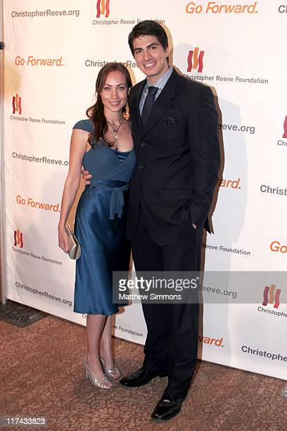 Courtney Ford and Brandon Routh during Christopher Reeve Foundation Fundraiser Beverly Hills September 27 2006 at Beverly Hilton Hotel in Beverly...