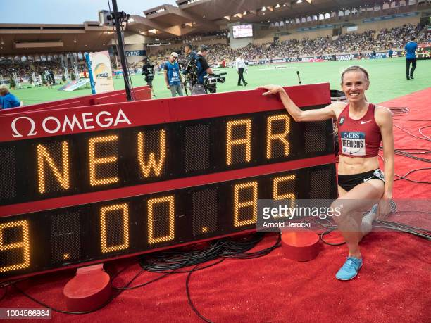 Greece's Katerina Stefanidi clears the bar as she competes in the women's pole vault at the IAAF Diamond League athletics 'Herculis' meeting at The...