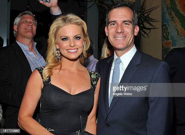 Courtney Friel and Eric Garcetti attend the Social Media Week Los Angeles opening night party to celebrate Social 25 honorees at 41 Ocean Club on...