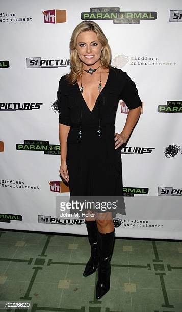 Courtney Friel attends the Launch Party For Vh1's Celebrity Paranormal Project at the Social Club on October 19 2006 in Hollywood California